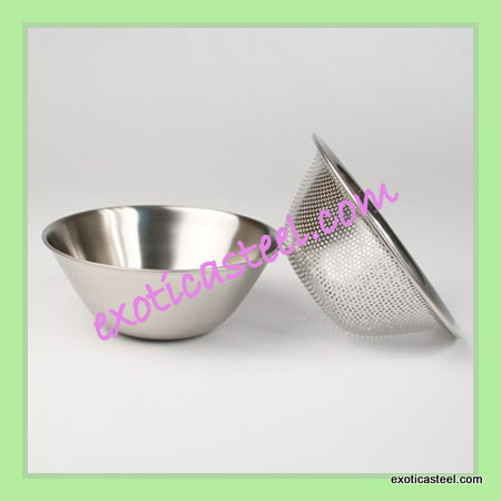 Stainless Steel Strainer Bowl - EXOTICA STEEL, C-58