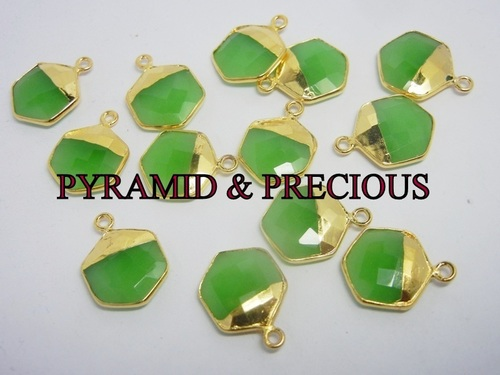Fancy Green Chalcedony Pendant