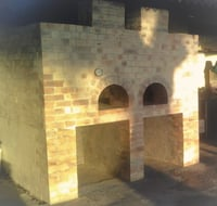 Wood And Gas Fired Brick Pizza Oven - Double Door Oven