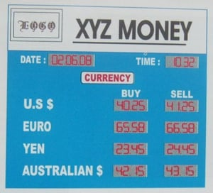 Currency Board Forex Display