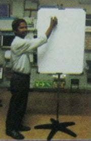 White Board on Stand
