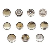 Horn Pearl Ring Snap Button