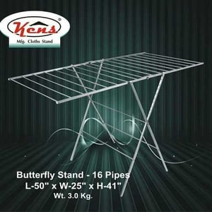 Stainless Steel Cloth Dry Butterfly Stand