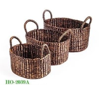 Water Hyacinth Basket S/3 (HO-2039)