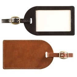 Attractive Leather Luggage Tag