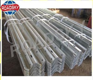 Road Safety Anti-Aging W Beam Stainless Steel Guardrails