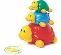 Pull Along Turtle Family Toys