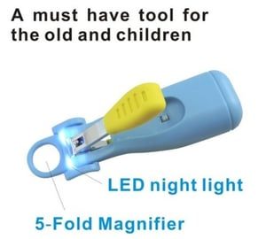 5-Fold Magnification Baby Nail Clipper With LED Light
