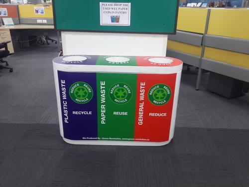 Color Coded Recycle Bin Trio