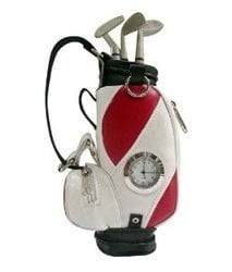 Golf Pen Stand With Clock And Accessories