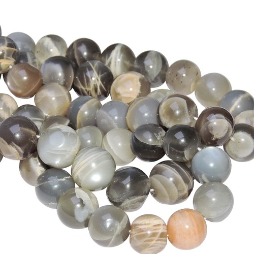 Natural Energised Moon Stone 10 Mm Beads