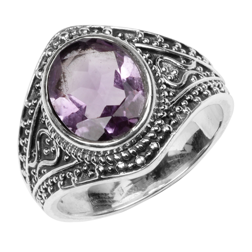 925 Sterling Silver Amethyst Gemstone Rings
