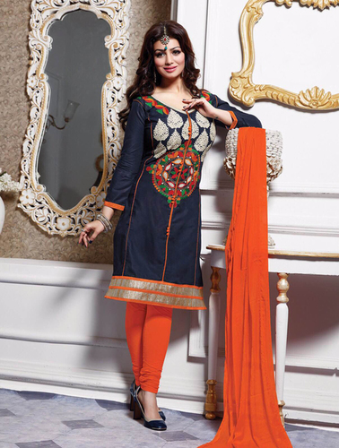 Embroidery Straight Ladies Suits
