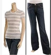 Ladies Fashionable Jeans And T Shirts