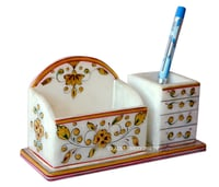 Marble Mobile Stand and Pen Holder