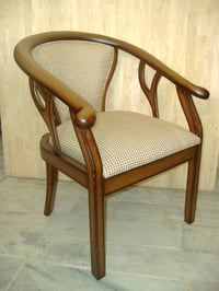 Oak Wood Coushined Lobby Chair