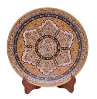 Marble Gold Painting Plate