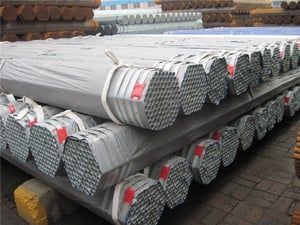 ASTM A53 Grade B GI Steel Pipe With Zinc Coating Thickness