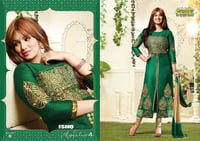 Ladies Designer Cotton Embroidered Suit