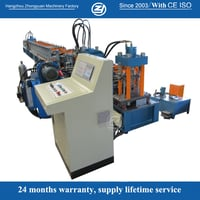 41-41 C Channel Guide Rail Roll Forming Machine With Cooling And Lubricating System