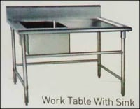 Work Table With Sink