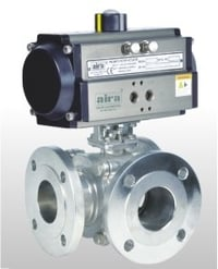 3 WAY PNEUMATIC BALL VALVE