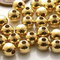 Gold Plated Metal Bead