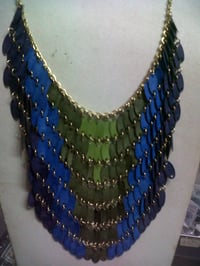 Fancy Brass And Beads Chain Necklace
