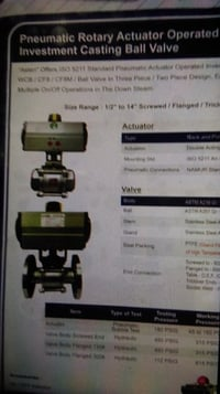 Pneumatic Actuator Operated Investment Casting Ball Valve