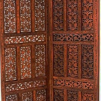 Hand-Carved Wooden Partition Screen