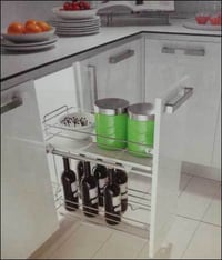 Removable Bottle Rack With 2 Anti Slip Baskets