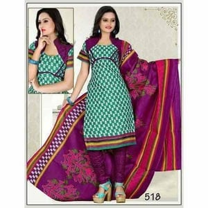 Crepe Printed Unstitched Suit