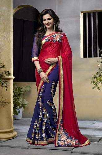 Stylish Georgette Designing Lovely Saree