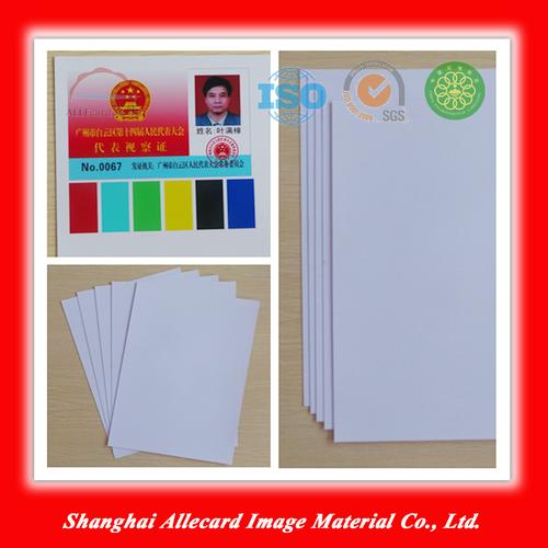 PVC Super White inkjet pvc id card printing material