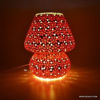 RED MOSAIC TABLE LAMP