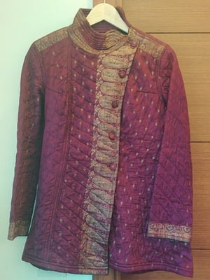 Purple and Gold Brocade Jacket