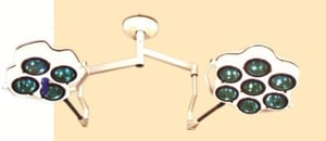 Ceiling Spring Suspension Shadowless Operation Light with Glass Reflector
