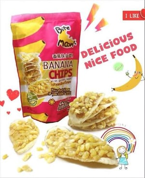 45g Banana Chips With Golden Bean Snack