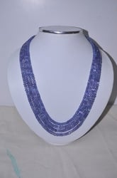 Tanzanite Faceted Roundelle Beads
