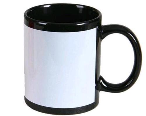 Sublimation Black Patch Mugs