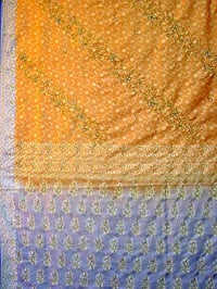 Nylon With Metallic Zari Saree