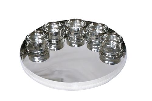 Stainless Steel Thali With Katori Set