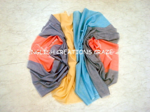 Polyester Casual Wear Poly Cotton Stole