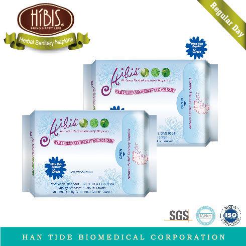 HIBIS Herbal Sanitary Napkins-Ultra Thin Regular
