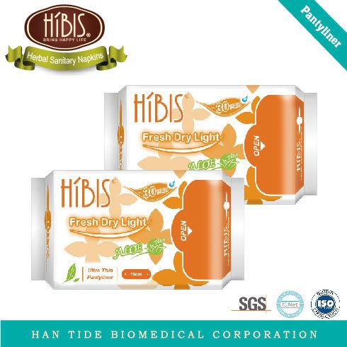 HIBIS Natural Herbal Pantyliner Sanitary Napkins