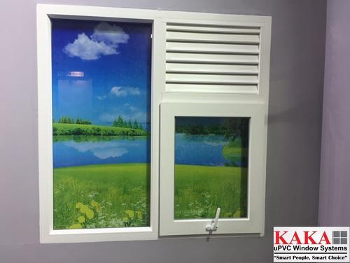 UPVC Combination Window (Fix+Top Hung Window)