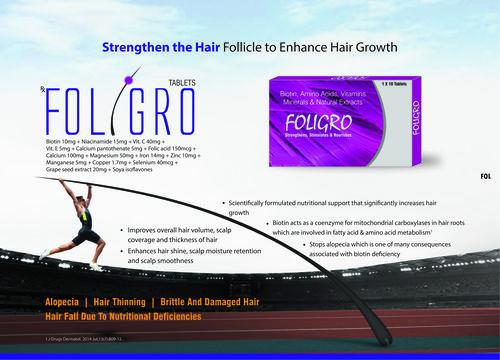 FOLIGRO -BIOTIN, AMINO ACIDS, VITAMINS MINERAL And NATURAL EXTRACTS