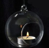 Antique Glass Round Candle Lamps