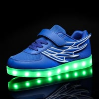 White Children Fashion Luminous LED Shoes