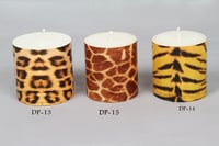 Animal Print Designer Pillar Candle